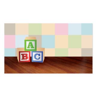 o ABC obstrui cartões de visitas