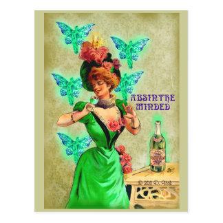 O absinto ocupou-se do cartão