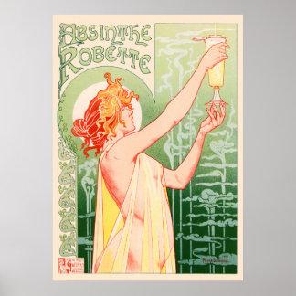 O absinto Robette pelo poster vintage de Alphonse