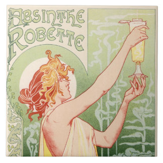 O absinto Robette - poster vintage do álcool
