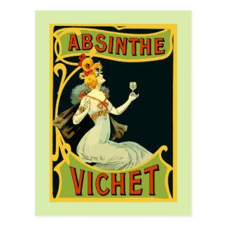 O absinto Vichet, nouveau da arte moderna Cartão Postal