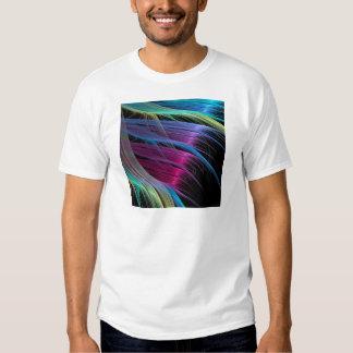 O abstrato colore extremidades do cetim camiseta