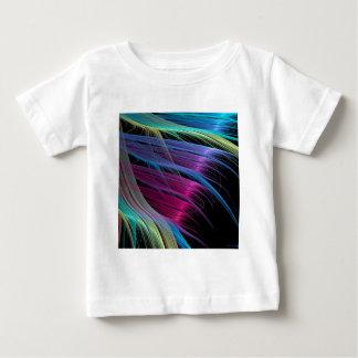 O abstrato colore extremidades do cetim camisetas