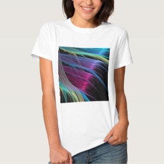 O abstrato colore extremidades do cetim tshirts