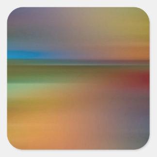 O abstrato colore o funk do disco adesivos quadrados