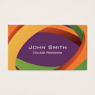 O abstrato colorido curva o professor cartão de