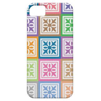 O abstrato colorido esquadra o teste padrão capa para iPhone 5