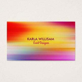O abstrato colorido vibrante irradia o fundo cartão de visitas