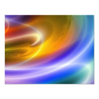 O abstrato de Digitas do computador convida Convite 10.79 X 13.97cm