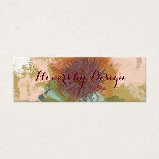 O abstrato floral do meio século cora ouro verde cartão de visitas mini