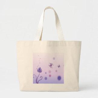 O abstrato floresce a borboleta azul bolsa para compra