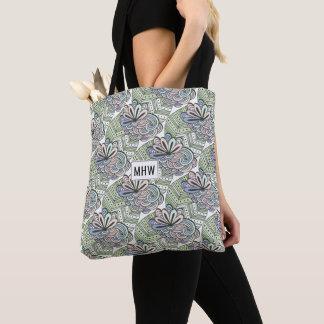 O abstrato floresce as bolsas feitas sob encomenda