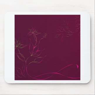 O abstrato floresce o abstrato do roxo mouse pad