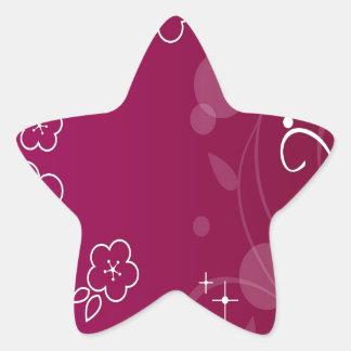 O abstrato floresce o abstrato simples roxo adesito estrela