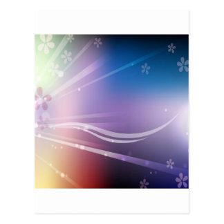 O abstrato floresce o brilho azul cartão postal