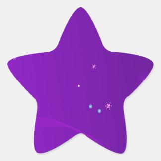 O abstrato floresce o céu roxo adesito estrela