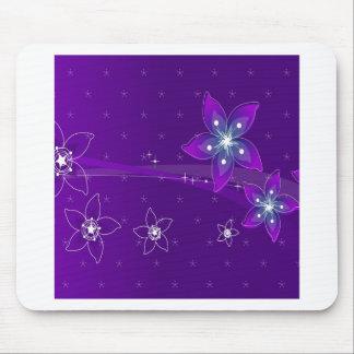O abstrato floresce vário roxo mouse pad