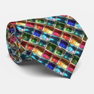 O abstrato modela 4 gravatas feitas sob encomenda