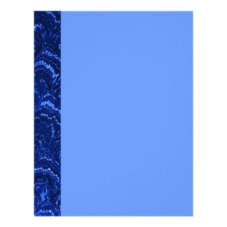 O abstrato retro roda cabeçalho do azul da safira papéis de carta personalizados