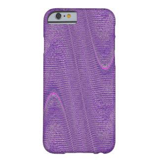O abstrato tecido rosqueia, caixa roxa do iPhone 6 Capa Barely There Para iPhone 6