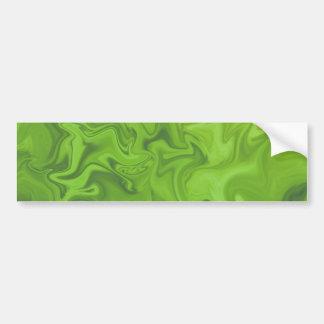 O abstrato Tonal do verde limão rodou fundo Adesivo Para Carro