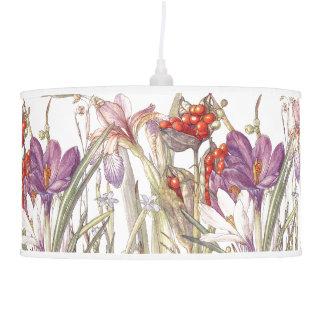O açafrão botânico da íris floresce a lâmpada