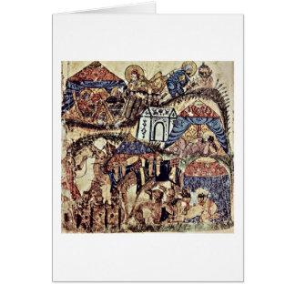 O acampamento pelo pintor iraquiano em 1230 cartões