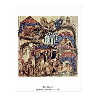 O acampamento pelo pintor iraquiano em 1230 cartao postal