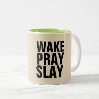 O ACORDAR PRAY MASSACRA canecas de café