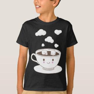 O açúcar engraçado bonito cuba o banho no copo de camiseta