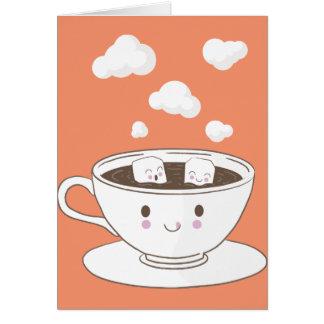 O açúcar engraçado bonito cuba o banho no copo de cartão
