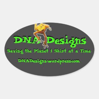 O ADN projeta o autocolante no vidro traseiro Adesivo Oval