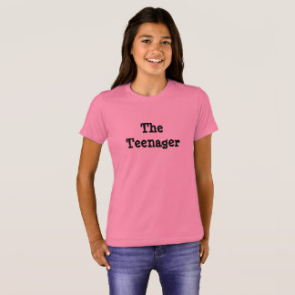O adolescente, camiseta do humor da família