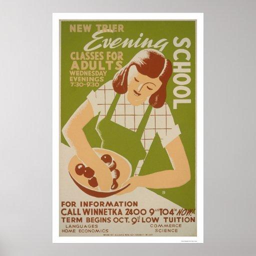 O adulto classifica Winnetka WPA 1941 Poster