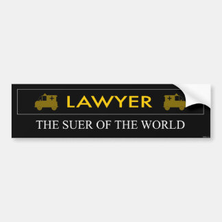 O advogado é o Suer do autocolante no vidro trasei Adesivo Para Carro