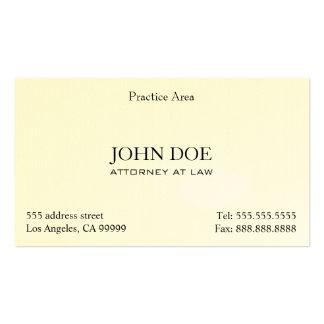 O advogado elegante limpa II Cartão De Visita