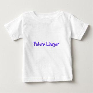 O advogado futuro apenas gosta do pai camiseta para bebê