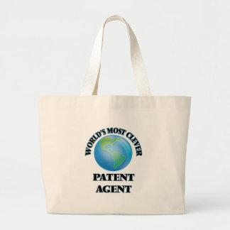 O agente de patente o mais inteligente do mundo sacola tote jumbo