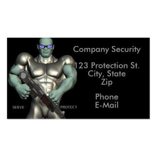 O agente de segurança presta serviços de manutençã cartão de visita