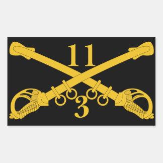 ó Agrupa-se o 11o regimento de cavalaria Adesivo Retangular