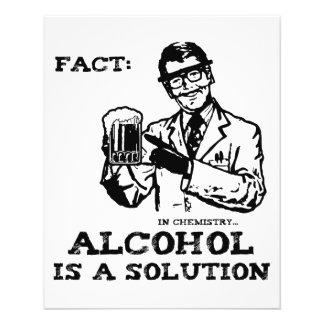 O álcool é uma solução na química retro panfleto personalizados