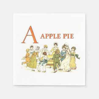 O alfabeto do vintage rotula os guardanapo de