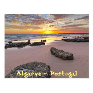 O Algarve - Portugal. Tema da temporada de verão Cartão Postal
