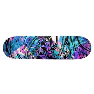 O algodão doce cor-de-rosa e o azul rodam shape de skate 18,7cm