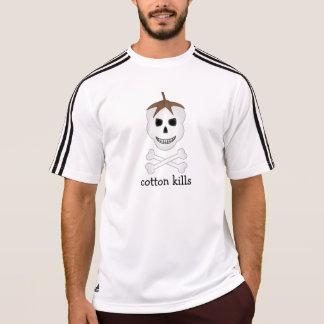 O algodão mata o t-shirt atlético