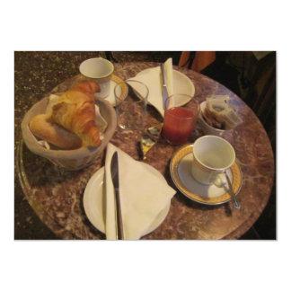 O almoço completo convida convite 11.30 x 15.87cm
