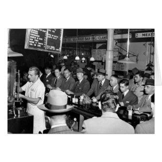 O almoço Contador de Pete 1950 Cartao