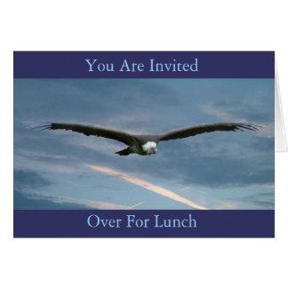 o almoço convida cartão comemorativo