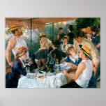 O almoço de Renoir do partido do barco (1881) Pôsteres
