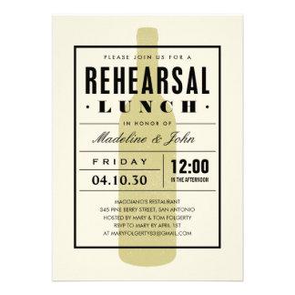 O almoço do ensaio do vinho convida com um design convite